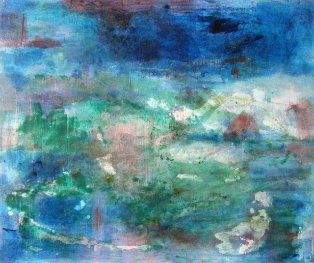 Landscape 1, Oil and mixed media on canvas, 100 x 120cm.