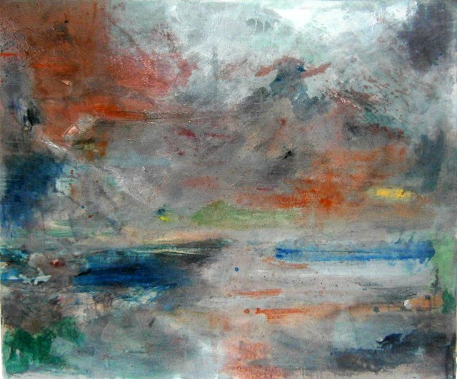 Landscape 4, Oil and mixed media on canvas. 100 x 120cm.