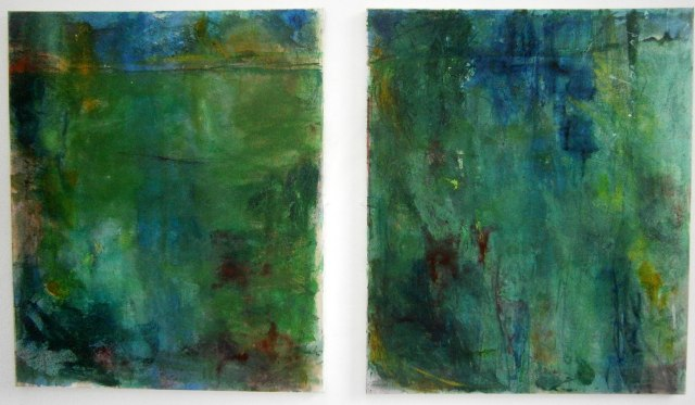 Landscape 5, Oil and mixed media on canvas. 2 x 100 x 120m.